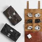 Personalized Electronics Cord Leather Organizer