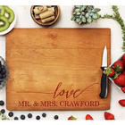 Love Mr. and Mrs. Cutting Board