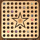 Army Star Beer Cap Map Bar Sign with Color Medallion