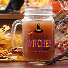 Personalized Cheers Witches Mason Jar