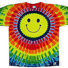 Smiley Face Rainbow Tie Dye T-Shirt