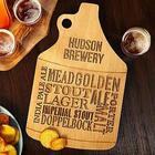 Personalized Beer Talk Wood Growler Bar Board