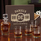 Personalized Marquee Whiskey Decanter and Eastham Glasses