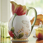 Tulip Earthenware Pitcher