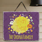 Personalized Trick or Treat Slate Plaque