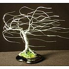 Windswept Mini Wire Bonsai Tree Sculpture