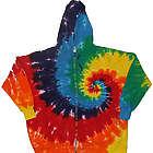 Rainbow Spiral Tie Dye Zipper Hoodie