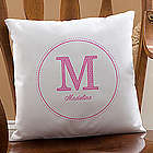 Personalized Girl's Her Name Throw Pillow