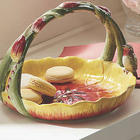 Hand Painted Tulip Basket