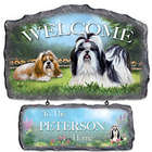 Lovable Shih Tzus Personalized Welcome Sign