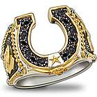Horseshoe Western Style Men's Ring
