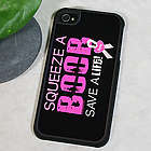 Squeeze a Boob Breast Cancer Awareness iPhone Case