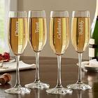 Personalized Cheers Champagne Flutes