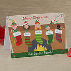 Stocking Family Characters Personalized Christmas Cards