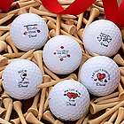 Valentine's Day Personalized Nike Mojo Golf Ball Set