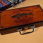 Personalized Cabin Style Trout Poker Set