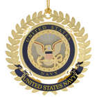 24 Karat Gold-Plated United States Navy Emblem Ornament