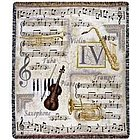 Music To My Ears Tapestry Throw