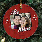 Personalized Ceramic Be Mine Photo Ornament