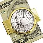 Statue of Liberty Commemorative Half Dollar Money Clip