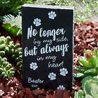 Personalized Paw Prints On My Heart Marble Garden Plaque