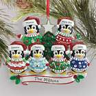 Personalized Penguin Ugly Sweater Family Ornament