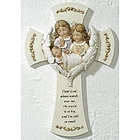 Baby with Angels Wall Cross
