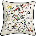 Hand-Embroidered Country Pillow