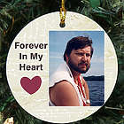 Ceramic Memorial Custom Photo Ornament