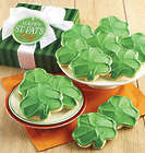 24 St Patricks Day Frosted Cutout Cookies Gift Box