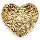 Hammered Gold Heart Ring Holder