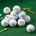 One Dozen Zero Friction Personalized Golf Balls