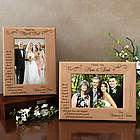 Personalized Thank You on My Special Day Wooden Picture Frame