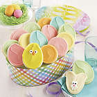 16 Frosted Cookies in Easter Egg Shaped Gift Tin