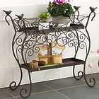 Two-Shelf Wrought Iron Plant Stand