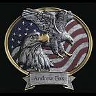 Personalized Eagle Legend Oval Plaque