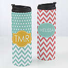 Preppy Chic Personalized 16-Ounce Travel Tumbler