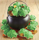 St Patrick's Day Pot of Gold with Shamrock Cookies