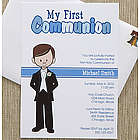 Personalized Communion Invitations for Boy