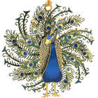 Dimensional Peacock Ornament