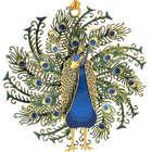 Dimensional Peacock Ornament