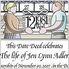 Dedicate a Day Personalized Remembrance Certificate