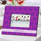 Personalized Purple Fizz Color Bright Photo Frame
