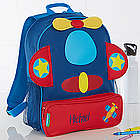 Kid's Airplane Embroidered Sidekick Backpack