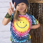 Kid's Smiley Face Tie Dye Tee