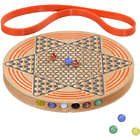 Chinese Checkers with Wooden Game Board