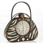 Zebra Hand Bag Clock
