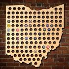 Giant XL Ohio Beer Cap Map