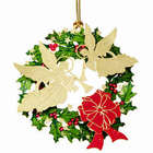 24 Karat Gold Plated Angel Wreath Christmas Ornament
