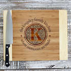 Formal Swirl Family Monogram Personalized Cutting Board